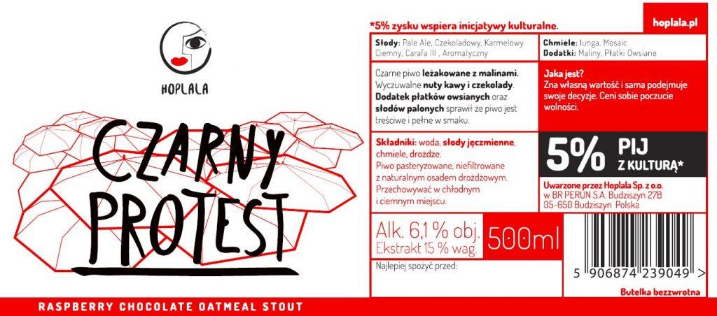 """Etykieta Piwa """"Czarny Protest"""""""