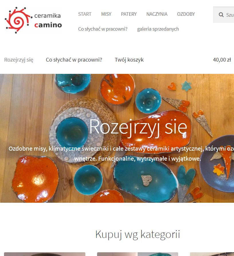 Sklep internetowy z dekoracyjną ceramiką – ceramikacamino.pl