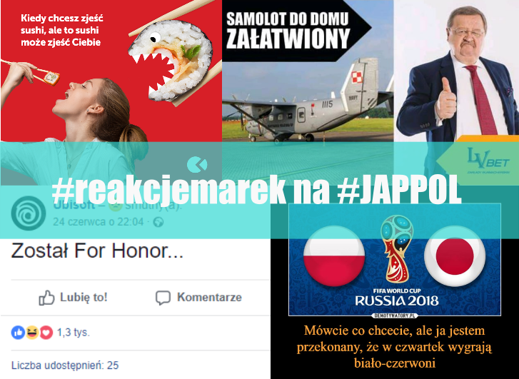 realtime marketingowe reakcje marek na mecz z japonią o honor